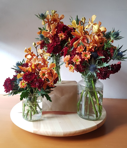 Floral jar arrangements