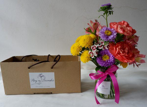 Floral Jar Arrangement